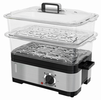 12842AO 1200W 6L 2-layer Stainless Steel Steam Cooker