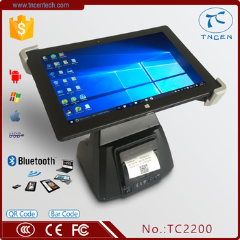 2inch Fashionable Low Price Black Touch Screen POS Machine / Cash TC2200 POS Printer