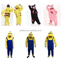 cheap wholesale adult onesie pyjamas /despicable me minion onesie QWAO-1649