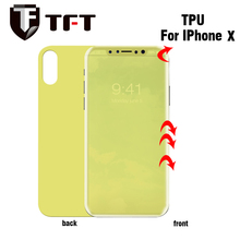 3D Full cover soft TPU anti shock front and back screen protector for Iphone X