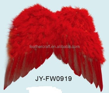 Popular Red Angle Feather Wing for Party