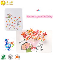Custom beautiful handmade 3d musical happy birthday cards