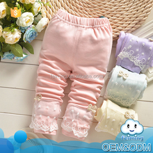 2015 kids clothes wholesale china lace decoration fashion branded cotton princess baby pants