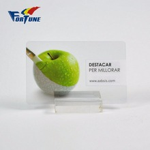 Classic premium quality transparent pvc business card for ordering online