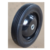 10x1.75 inch semi pneumatic rubber wheel with rib tread and steel rim