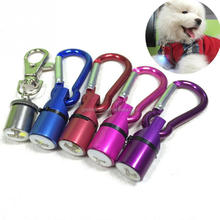 dog cat pet Cool Flashing Aluminum Safety Waterproof LED Collar Tag Pendant