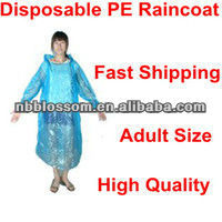 transparent raincoats,Low price Disposable PE Water-proof Adult Raincoat / Emergency Poncho/ Rain Poncho high-quality