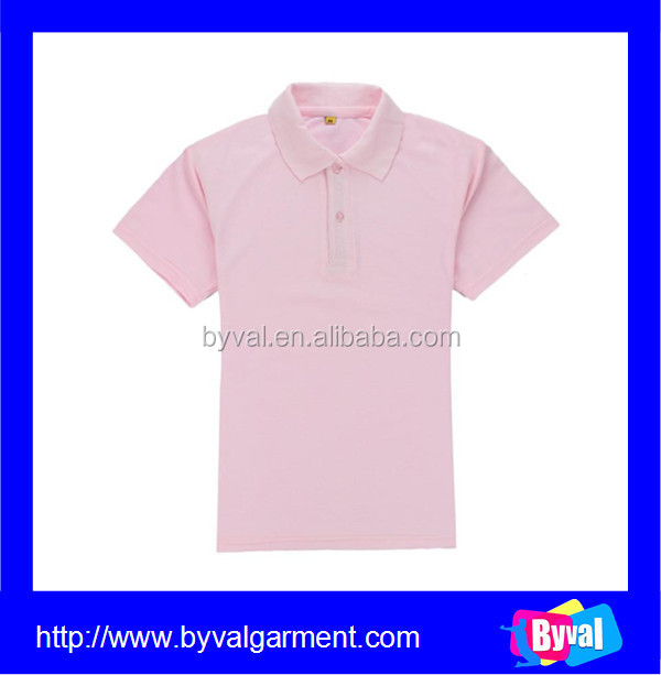 2015 Custom blank polo shirt factory polo collar t shirt for men and women