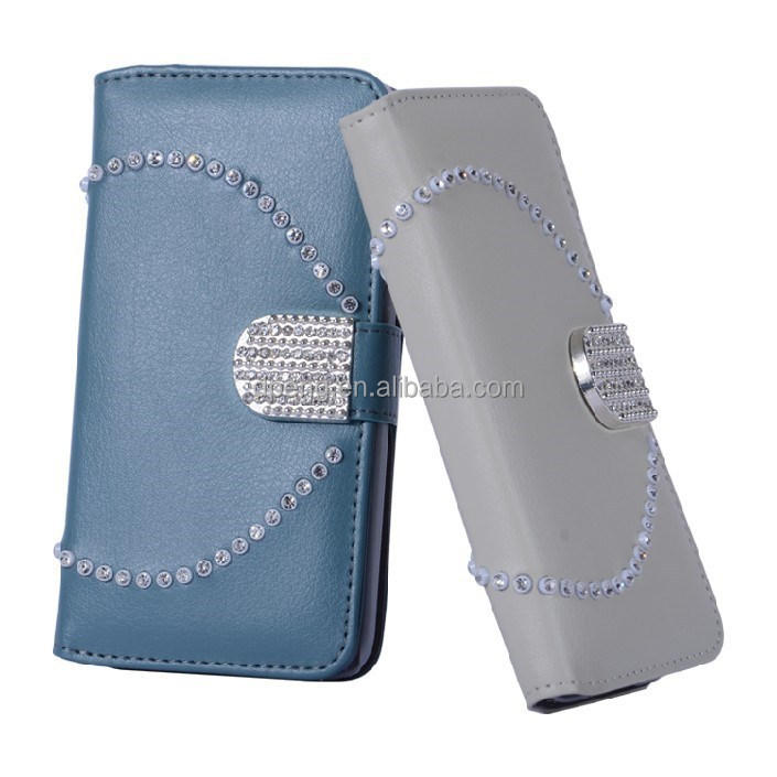 Wholesale custom design leather wallet mobile phone leather case