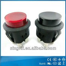 12A125VAC 7000 round latching momentary illuminated push button reset switches coin push machine