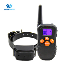 Private Label Pet Training collar 300M Remote Control Smart trainer Humane Dog Bark Training lcd dog collar