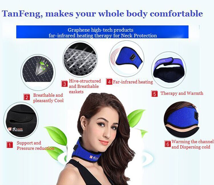 Good design Electric Self Heating Neck Brace / Neck Pad/Neck Warmer Support with Graphene Far Infrared