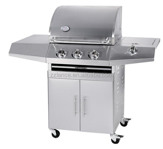 Stainless Steel 3 Burner Gas BBQ Grill