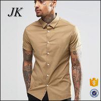 2016 New Fashion designs formal summer long sleeve latest men's dress shirt for men