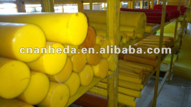PU hard rubber rods polyurethane rod