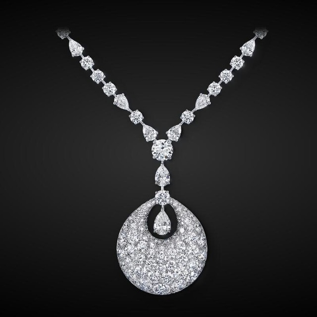 vintage crystal cubic zircon pendant wedding squash blossom necklace wholesale