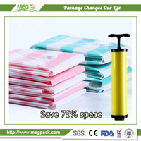 PET / PE plastic type vacuum compressed packing bag for clothing