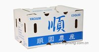 Waterproof Waxed Boxes/waxed kraft paper corrugated box/cardboard shipping boxes for food