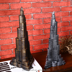 Resin dubai burj khalifa tower model souvenir