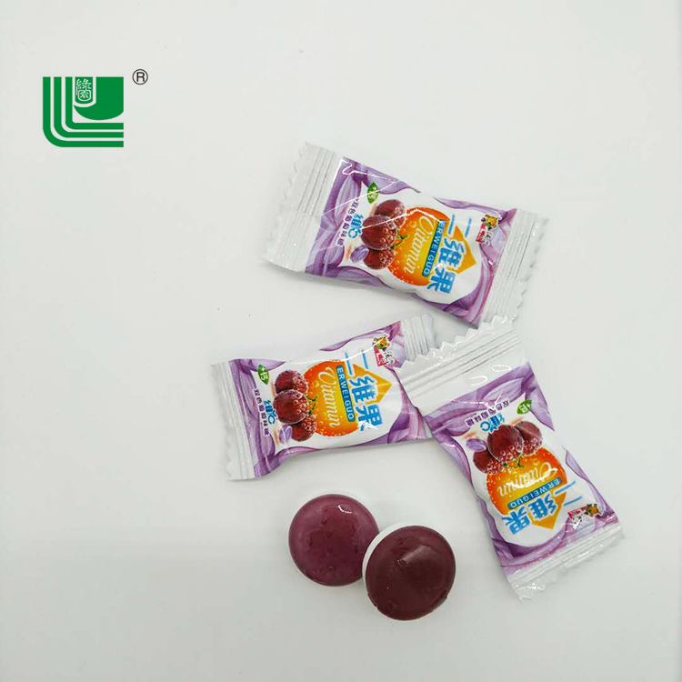 Candy grape flavor mixed bicolor fruit hard candy mini fruit candy