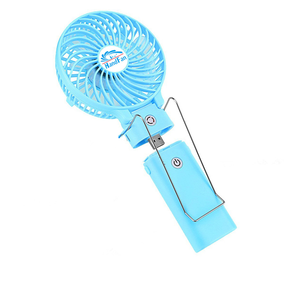 USA Popular Design Removable Power Bank Mini USB Rechargeable Poetable Desk Fan with Long Time Working