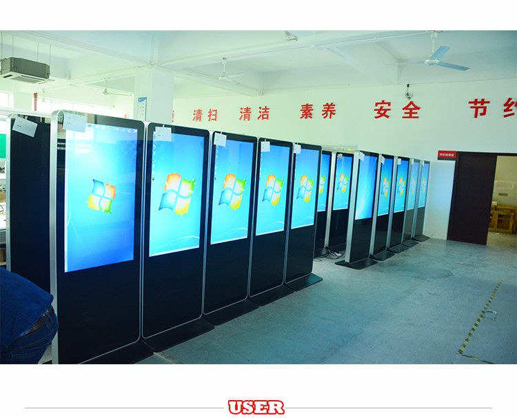 USER SDT 46 inch touch screen kiosk, custom lcd and touch screen advertising player