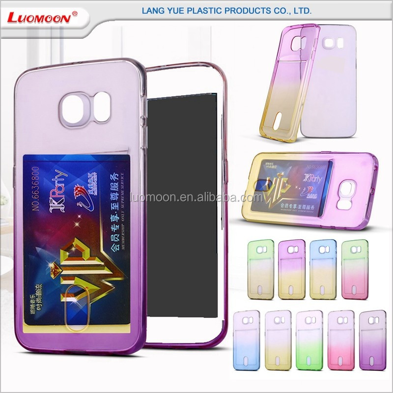 with card bag phone case for samsung galaxy note j s 3 4 5 i 9195 9198 9500 cover
