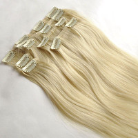 100% human hair remy clip in extensions clip on extensions