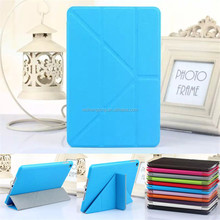 Leather Magnetic Transformer Stand Cover Case For iPad Mini 4 with Cross Texture