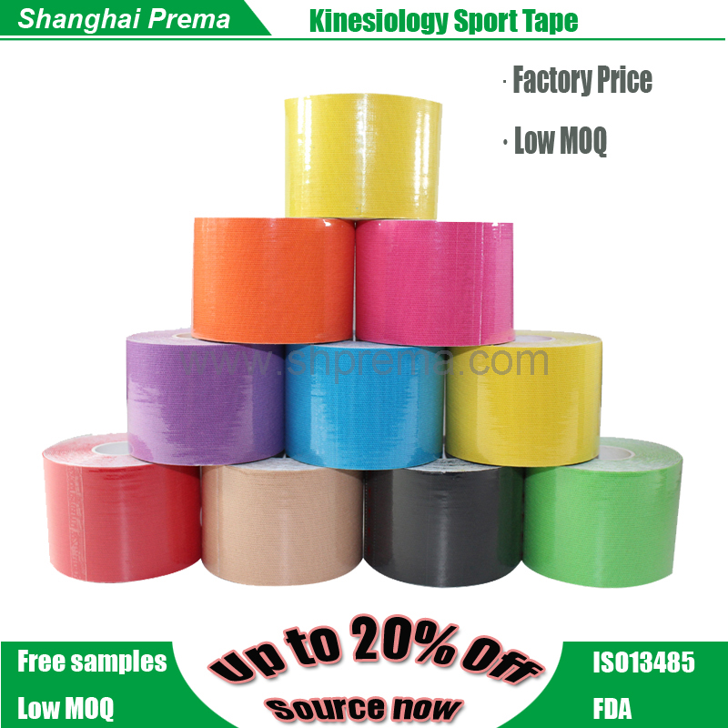 Elastic sports tape adhesive tape kinesiology High quality elastic printed sport adhesive kinesiology tape for athletes