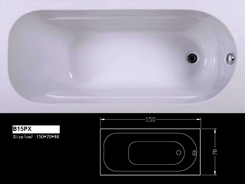 B15PXHot Sale Bathtub Bath China Chinese Soaking Tub Supplier Stand Alone Bathtubs Factory