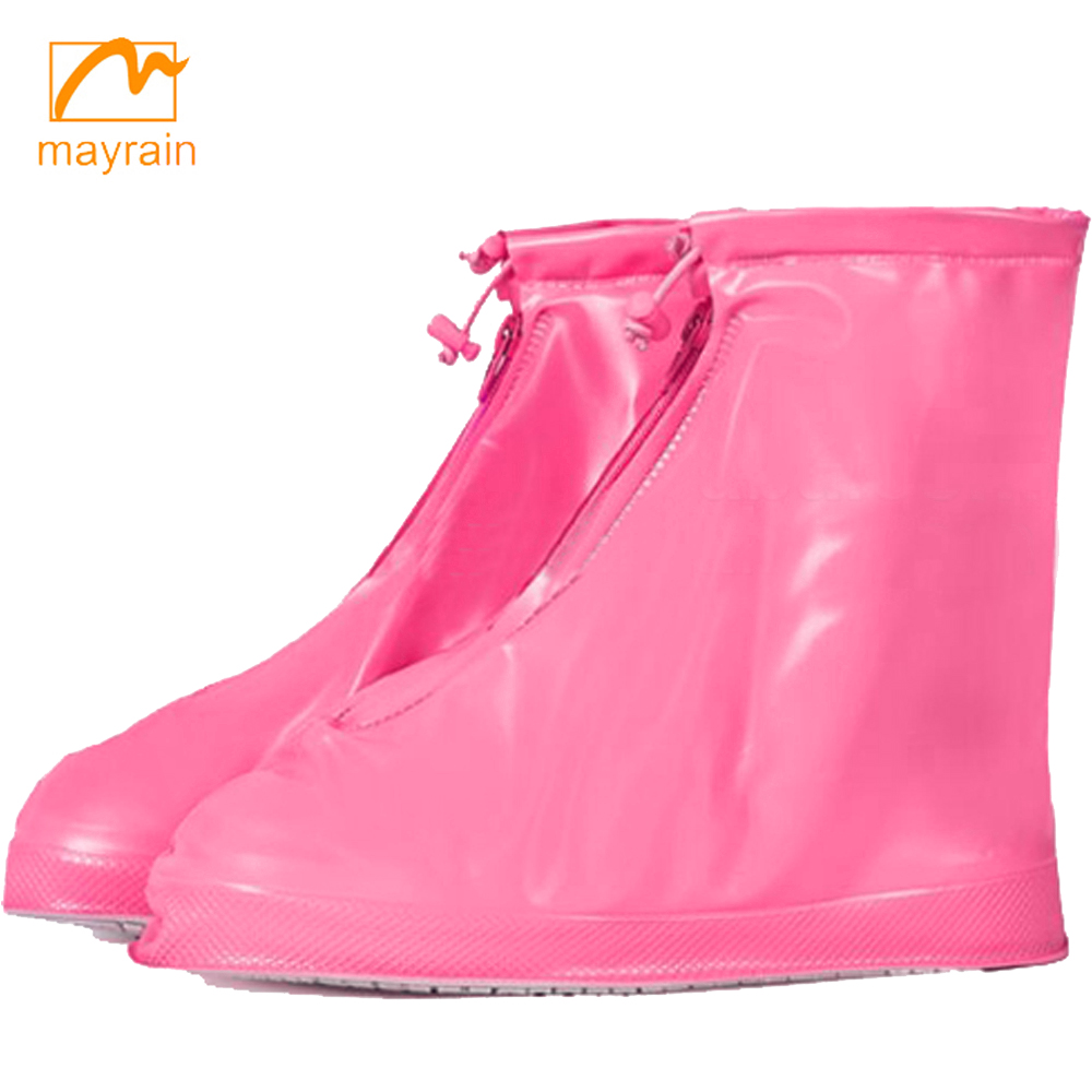 2017 Green PVC Waterproof Rain Cover Shoes