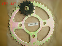 CBZ 43T Popular India Model Motorcycle Chain & Sprocket Kits