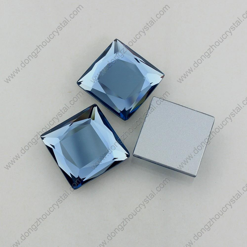 Cheap Price Faceted Colored Decorative Square Glass Stone