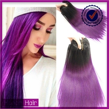 Wholesale brazilian human hair factory supply wholesale 100% human hair purple weave hair