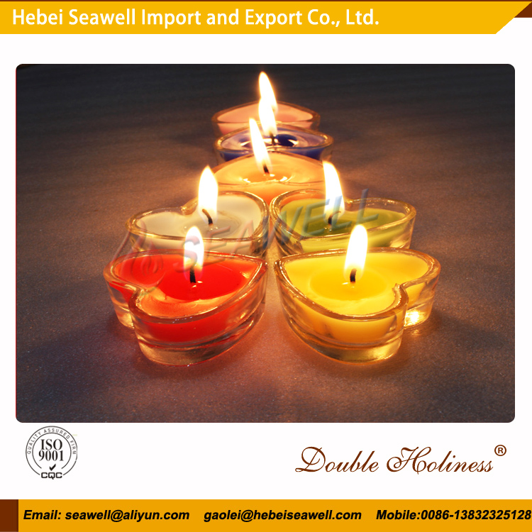 Hebei Seawell Romantic scented colorful heart shape tealight candle