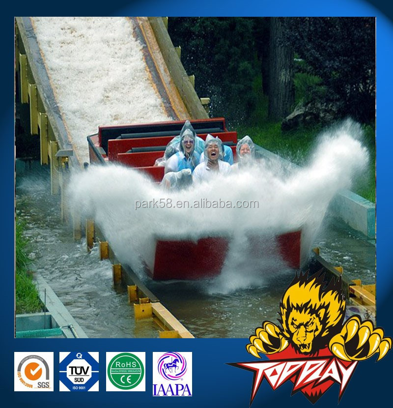 thrill amusement rides water coaster mega splash flume ride for sale