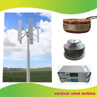 2kw Vertical Axis permanent magnet wind generator wind power system wind mill 2kw