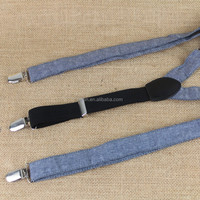 2.5cm Canvas elastic suspender for Jeans