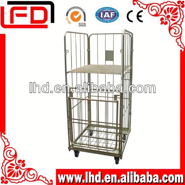 Safety folding metal storage roll cages