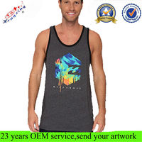 Screen Printing Logo Men Custom Muscle Tank Top Wholesale