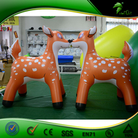 Durable and Cute Giant Inflatable Deer / Lovely PVC 0.4mm Advertising Inflatable Animals / Inflatable Toys For Kids Play