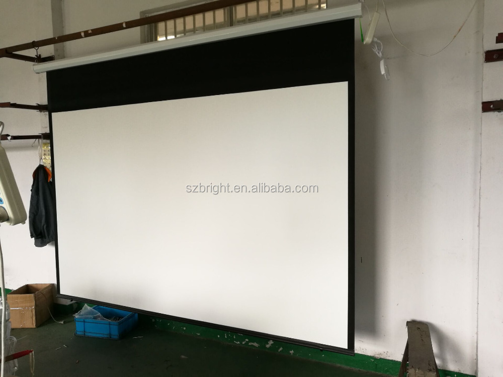 Wholesale electric projector screen 120 inch motorized projector screen 4:3/16:9