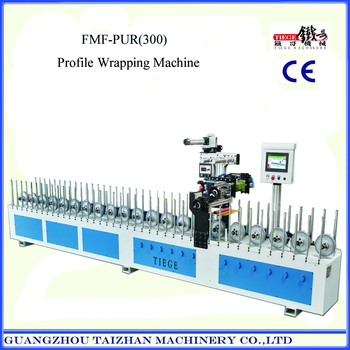 Multifunction PUR hot glue profile wrapping machine