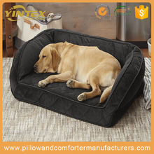 Hot selling pet dog product high quality half cover pet cave wholesale dog bed with detachable cushion