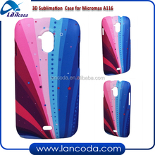 india hot 3D sublimation mobile phone cover for Micromax A116,3d vacuum machine heat transfer press sublimation case
