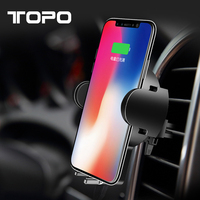 2018 New Trending Products Usb Fast Charger Qi Wireless Charger Portable Plate Pad Car Mount Mobile Phone For Samsung