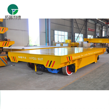 Shipyard electric cross transfer cart for railway transport