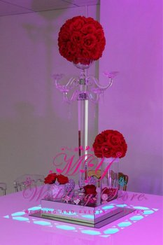 tall crystal candle holder For Wedding Centerpiece