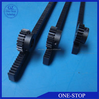 Customized plastic rack and pinion gears Nylon gear rack